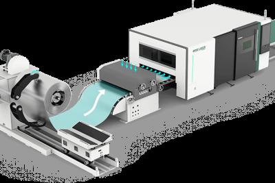 Dây chuyền sản xuất cắt laser fiber tự động