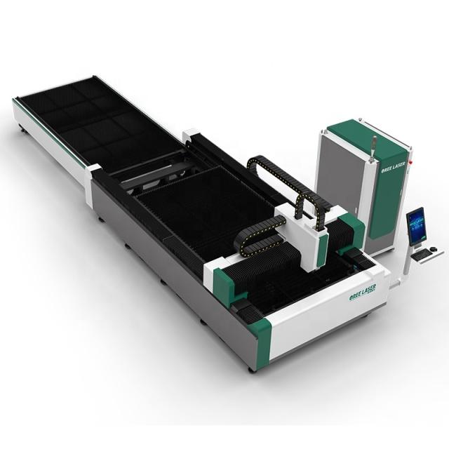 Máy cắt laser fiber OREE -EH loại có bàn trao đổi vật liệu